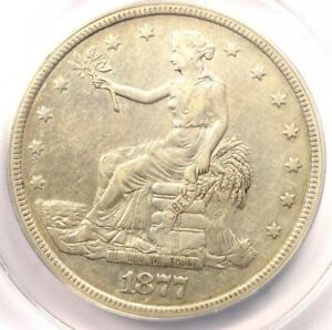 1877 TRADE SILVER DOLLAR T$1   ANACS XF40 DETAILS  EF40     CERTIFIED COIN