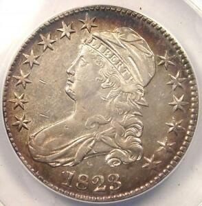 1823 CAPPED BUST HALF DOLLAR 50C O 107   CERTIFIED ANACS XF45 DETAILS  EF45