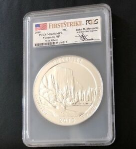 Click now to see the BUY IT NOW Price! 2010 YOSEMITE ATB  5OZ SILVER PCGS MS69 DMPL FIRST STRIKE/MERCANTI
