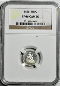 Click now to see the BUY IT NOW Price! 1858 LIBERTY SEATED H10C NGC PR 66 CAM