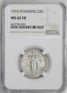 Click now to see the BUY IT NOW Price! 1916 STANDING LIBERTY 25C NGC MS 62 FH