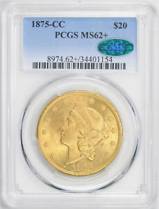 Click now to see the BUY IT NOW Price! 1875 CC LIBERTY HEAD $20 PCGS MS 62