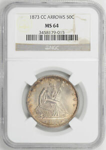 Click now to see the BUY IT NOW Price! 1873 CC LIBERTY SEATED 50C NGC MS 64