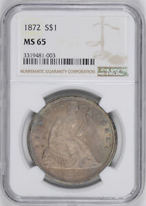 Click now to see the BUY IT NOW Price! 1872 LIBERTY SEATED S$1 NGC MS 65