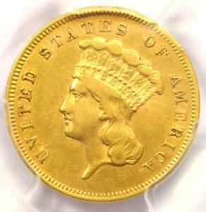 1856 S THREE DOLLAR INDIAN GOLD COIN $3   CERTIFIED PCGS XF40   $1 650 VALUE