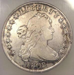 1802/1 DRAPED BUST SILVER DOLLAR $1 BB 233   CERTIFIED ICG VF20    COIN