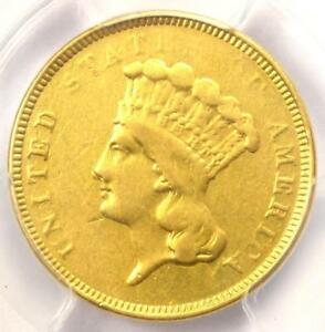 1854 O THREE DOLLAR INDIAN GOLD COIN $3   PCGS VF DETAILS