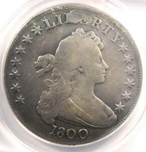 1800 DRAPED BUST SILVER DOLLAR $1 COIN   CERTIFIED ANACS VG8 DETAILS