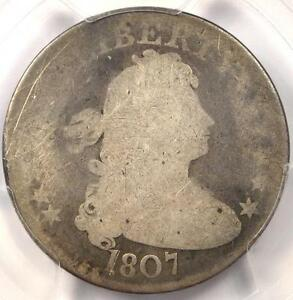 1807 DRAPED BUST QUARTER 25C B 2   PCGS AG DETAILS    EARLY CERTIFIED COIN