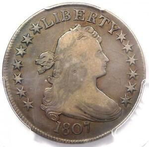 1807 DRAPED BUST HALF DOLLAR 50C O 108   PCGS VF DETAILS    CERTIFIED COIN