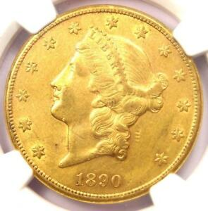 1890 CC LIBERTY GOLD DOUBLE EAGLE $20 COIN   CERTIFIED NGC AU50   $5 500 VALUE