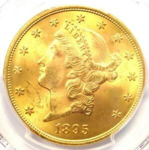 1895 LIBERTY GOLD DOUBLE EAGLE $20 COIN   PCGS MS64  PLUS GRADE   $4 000 VALUE