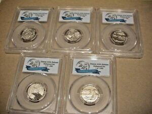 2017 S PCGS SP70 ENHANCED UNC QUARTER SET FIRST DAY ISSUE 225TH SET ANA LABEL