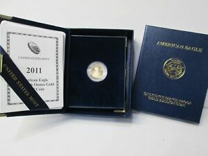 2011 AMERICAN EAGLE 1/10 OUNCE GOLD PROOF 5 DOLLAR COIN