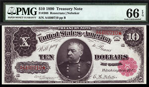 Click now to see the BUY IT NOW Price! $10 1890 TREASURY NOTE FR 368 PMG 66 EPQ