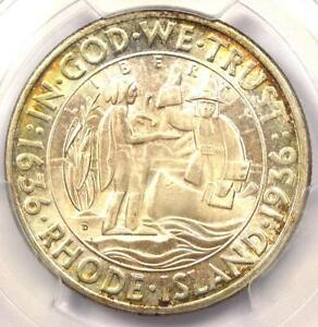 1936 D RHODE ISLAND HALF DOLLAR 50C   PCGS MS67 PQ    IN MS67   $1250 VALUE
