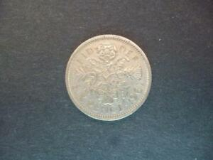1961 ENGLISH SIXPENCE COIN IN GOOD USED CONDITION 1961 SIXPENCE COIN SHOWN SENT