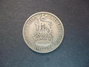 1935 SHILLING COIN GEORGE 5TH IN GOOD CIRCULATED CONDITION 50  SILVER.1935 COIN