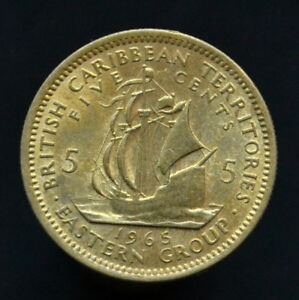 EAST CARIBBEAN STATES 5 CENTS 1965. KM4 SOUTH AMERICA COIN