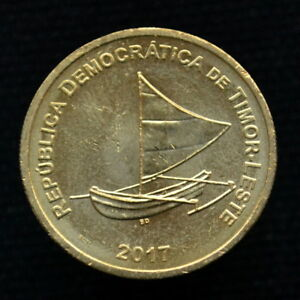 EAST TIMOR 25 CENTAVOS 2017 KM4 SAILBOAT COIN UNC