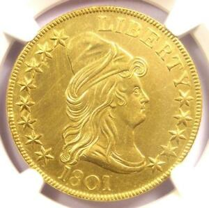1801 CAPPED BUST GOLD EAGLE $10 COIN   NGC UNCIRCULATED DETAILS  UNC MS