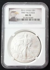 2012 SILVER EAGLE FIRST RELEASE NGC MS 70
