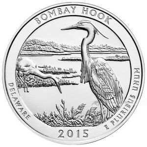 5 OZ 2015 AMERICA THE BEAUTIFUL | BOMBAY HOOK NATIONAL WILDLIFE REFUGE SILVER CO