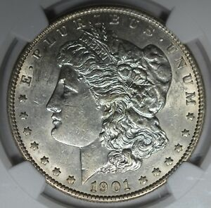 Click now to see the BUY IT NOW Price! 1901 $1 DDR FEATHERS NGC AU58  VAM 3 TOP 100