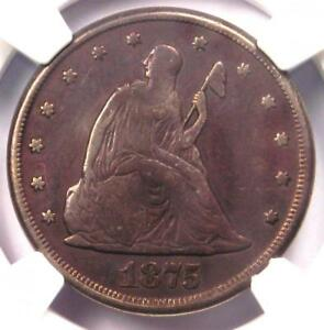 1875 CC TWENTY CENT PIECE 20C   CERTIFIED NGC VF DETAIL    CARSON CITY COIN