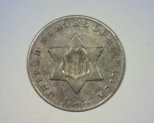 1852 THREE CENT SILVER PIECE    LY FINE     393049 CHY