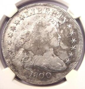 1800 DRAPED BUST SILVER DOLLAR $1 BB 195 B 15   NGC FINE DETAILS    COIN