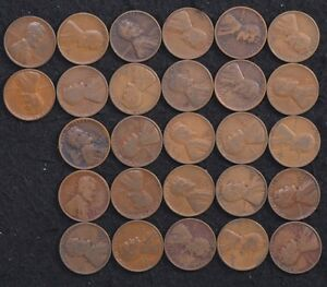 1933 D 1/2 ROLL OF LINCOLN WHEAT PENNIES