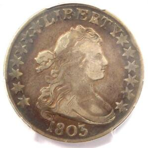 1803 DRAPED BUST HALF DOLLAR 50C   PCGS VF DETAILS    CERTIFIED COIN