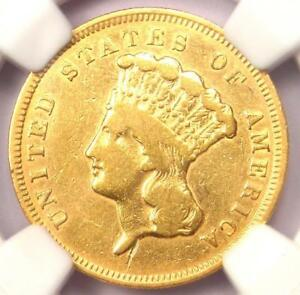 1857 S THREE DOLLAR INDIAN GOLD COIN $3   CERTIFIED NGC VF DETAILS    DATE
