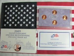 2009 S 1C LINCOLN BICENTENNIAL PROOF SET W/ BOX AND COA  432