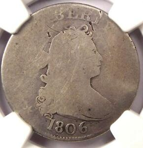 1806 DRAPED BUST QUARTER 25C   NGC FAIR DETAILS    EARLY CERTIFIED COIN