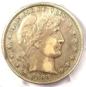 1898 O BARBER HALF DOLLAR 50C   PCGS XF DETAILS  EF .  DATE   CERTIFIED COIN