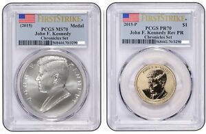 Click now to see the BUY IT NOW Price! 2015 JOHN F KENNEDY COIN AND CHRONICLES DOLLAR PCGS REVERSE PR70AND MS70 FS