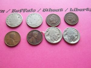 VINTAGE LOT OF 8 OLD AND  COINS THAT ARE 50 125 YEARS OLD  8 COINS  IVBW 14