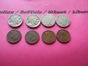 VINTAGE LOT OF 8 OLD AND  COINS THAT ARE 50 125 YEARS OLD  8 COINS  IVBW 22