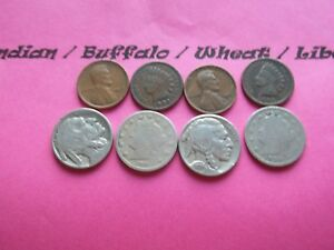 VINTAGE LOT OF 8 OLD AND  COINS THAT ARE 50 125 YEARS OLD  8 COINS  IVBW 21