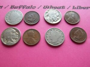 VINTAGE LOT OF 8 OLD AND  COINS THAT ARE 50 125 YEARS OLD  8 COINS  IVBW 15