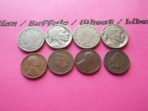VINTAGE LOT OF 8 OLD AND  COINS THAT ARE 50 125 YEARS OLD   8 COINS  IVBW 5