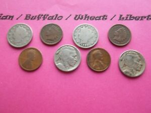 VINTAGE LOT OF 8 OLD AND  COINS THAT ARE 50 125 YEARS OLD   8 COINS  IVBW 7