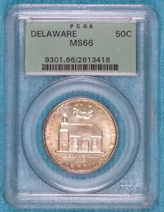 1936 MS 66 DELAWARE EARLY SILVER COMMEMORATIVE HALF 20 993 MINTED