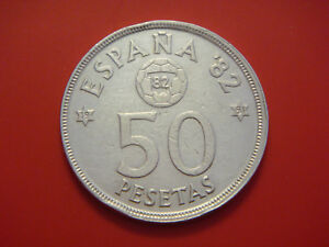 SPAIN 50 PESETAS 1980 WORLD CUP SOCCER GAMES