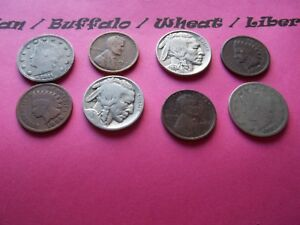 VINTAGE LOT OF 8 OLD AND  COINS THAT ARE 50 125 YEARS OLD  8 COINS  IVBW 34