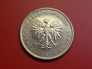 POLAND 20 ZLOTYCH 1987 EAGLE BIRD