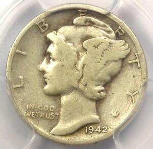 1942/1 D MERCURY DIME 10C   CERTIFIED PCGS VG10    OVERDATE VARIETY COIN