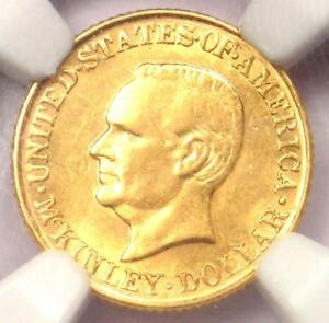 1917 MCKINLEY COMMEMORATIVE GOLD DOLLAR COIN G$1   NGC AU58   $650 VALUE